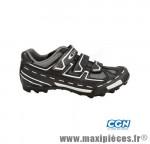 Chaussure VTT panther noir/gris t41 3 velcros (paire) marque GES