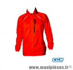 Coupe vent rouge (taille L) deperlant poche zippee marque Exustar