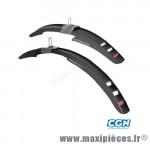 Garde boue VTT 16/20 pouces mississipi clips noir (paire) marque Polisport - Pièce Vélo