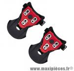 Cale pieds/adaptateur pédale VTT auto noir livre av. cale type spd shimano (paire) marque Exustar