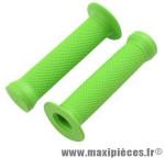 Poignée BMX grip vert l130 mm (paire) - Accessoire Vélo Pas Cher