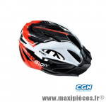 Casque VTT vision blanc/rouge in-mold m 55/58 marque Optimiz - Matériel pour Vélo