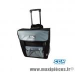 Sacoche vélo caddy a roulette pour fixation porte bagage arrière noire (38x18x37cm) - Accessoire Vélo Pas Cher