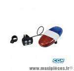 Sonnette avertisseur police 4 modes de sonorisation et 4 modes flash marque Atoo - Matériel pour Vélo
