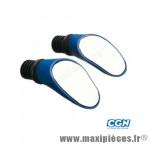 Retro vélo sprintech cyclo/route racing bleu réglable (paire) - Accessoire Vélo Pas Cher