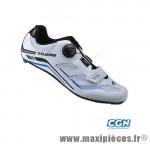 Chaussure route sr4103 t37 blanc/bleu système lacage boa+velcro (paire) marque Exustar pour cycliste