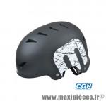 Casque BMX street/dirt noir mat l (60/63) avec réglage occipical 14 aérations - Accessoire Vélo Pas Cher