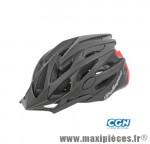 Casque route/VTT/VTC twig in mold noir/rouge mat avec réglage occipital 58/61 marque Polisport - Pièce Vélo