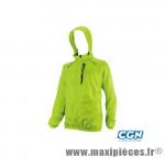 Coupe vent jaune fluo (taille L) deperlant poche zippee marque Exustar