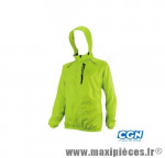 Coupe vent jaune fluo (taille XL) deperlant poche zippee marque Exustar