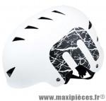 Casque BMX street/dirt blanc mat m (54/58) avec réglage occipical 14 aérations - Accessoire Vélo Pas Cher