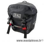 Sacoche vélo cyclo canada noir 100% étanche fixation porte bagage avant (paire) 2x12.5l - Accessoire Vélo Pas Cher