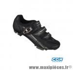 Chaussure VTT sm3116b (taille 40) noir 2 velcros + clic (paire) - Pièces Vélo Exustar