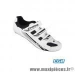 Chaussure route sr4123a (taille 42) blanc 3 velcros (paire) - Pièces Vélo Exustar