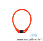 Antivol vélo Câble a code d15 x 0.75m 100 % silicone rouge - Antivols Vélo Rangers