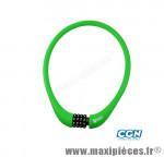 Antivol vélo Câble a code d15 x 0.75m 100 % silicone vert - Antivols Vélo Rangers