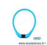 Antivol vélo Câble a code d15 x 0.75m 100 % silicone bleu - Antivols Vélo Rangers