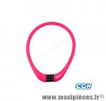 Antivol vélo Câble a code d15 x 0.75m 100 % silicone rose - Antivols Vélo Rangers