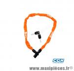 Antivol vélo chaine a clé 0.75m orange - Antivols Vélo Rangers