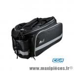 Sacoche vélo noir porte bagage + extensions latérales (17x31x19cm) - Matériel pour Vélo Atoo