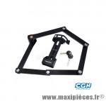 Antivol vélo pliable a clé l 100cm fs200 noir avec support - Accessoires Vélo Trelock