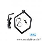 Antivol vélo pliable a clé l 85cm tf90 noir avec support - Accessoires Vélo Trelock