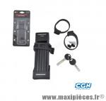 Antivol vélo pliable a clé l 75cm fs200 noir avec support - Accessoires Vélo Trelock