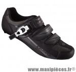 Chaussure route sr4123b (taille 38) noir 2 velcros + clic (paire) - Pièces Vélo Exustar