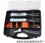 Kit de purge frein hydraulique toutes marques dot4 et minérale (coffret)
