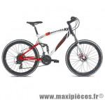 Velo VTT 26 pouces tout suspendu c560 warrior rouge/blanc/noir (t48) - Vélos Carratt