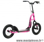 Trottinette urban cross rose fluo roue 12''