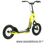 Trottinette urban cross jaune fluo roue 12''