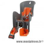 Porte bébé arrière sur cadre bilby gris fonce coussin orange <22kgs - Pièces Vélo Polisport