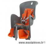 Porte bébé arrière sur porte bagage bilby gris fonce coussin orange <22kgs - Pièces Vélo Polisport