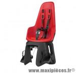 Porte bébé arrière sur cadre et porte bagage one maxi - rouge fraise - Pièce de Cycle Bobike