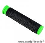 Poignée VTT 808 noir/vert lg 125mm (paire) - Poignées Vélo Progrip