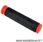 Poignée VTT 808 noir/rouge lg 125mm (paire) - Poignées Vélo Progrip