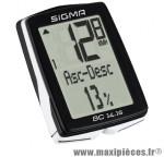 Compteur velo avant fil bc 14.16 14 fcts noir - Accessoires Vélo Sigma