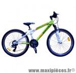 Velo enfant 24 pouces VTT c610 makk24 vert tx35 6x3 susp. - Vélos Carratt