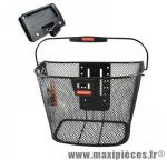 Panier avant a clips acier uni 16l noir avec clip pour éclairage 35x26x25 cm (sans fixation) - Accessoires Vélo Klickfix