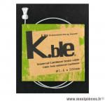 Déstockage ! Câble de frein vélo cantilever galva KBLE Transfil ø 1.6 x 500mm (vendu à l'unité)