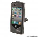 Sacoche M-Wave pour smartphone noir (h.115 x l.59 x p.9 mm) étui rigide pour fixation guidon vélo *Déstockage !