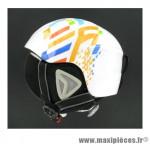 Prix discount ! Casque de vélo ski skateboard hiver enfant XS/S 48-52cm SX-505 multicolore