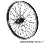 Roue BMX 20 pouces arrière noir moy alu noir 48t. axe de 14 marque Vélox - Pièce Vélo
