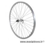 Roue VTC 700x35 avant er10 alu double paroi moy alu argent blocage marque Vélox - Pièce Vélo