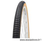 Pneu de vélo city 650 1/2 ballon s-193 noir/brun tr (26x1 5/8x1 2/2) (44-584) marque Deli Tire - Pièce Vélo