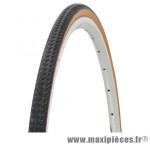 Pneu de vélo city/VTC 700x28 noir/brun tr (28x1,10) (28-622) marque Deli Tire - Pièce Vélo