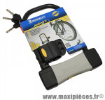 Antivol vélo u 165x245mm diamètre 14mm avec support (livre avec 3 cles) marque Michelin - Pièce Vélo