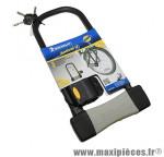 Antivol vélo u 165x320mm diamètre 14mm avec support (livre avec 3 cles) marque Michelin - Pièce Vélo