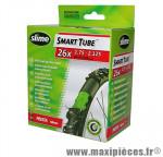 Chambre à air de vélo et de dimensions 26x1.50-2.10 valve presta avec liquide anti-crevaison marque Slime - Pièce Vélo